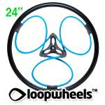 "24"" BLUE Loopwheels with Black logo - PAIR LOOPB24K"