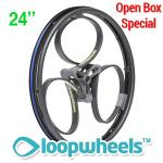 "24"" BLACK Loopwheels with Teal logo - PAIR LOOPK24TC"