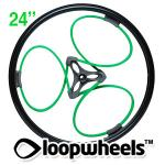 "24"" GREEN Loopwheels with Black logo - PAIR LOOPN24K"