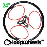"24"" RED Loopwheels with Black logo - PAIR LOOPR24K"