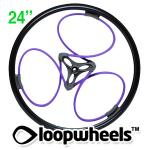 "24"" PURPLE Loopwheels with Black logo - PAIR LOOPU24K"